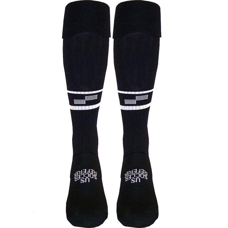 USSF Two Stripe Ref Sock - Goal Kick Soccer