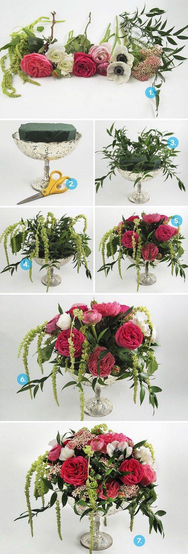 DIY Anemone Wedding Centerpiece. Perfectly delightful anemone centerpiece for…