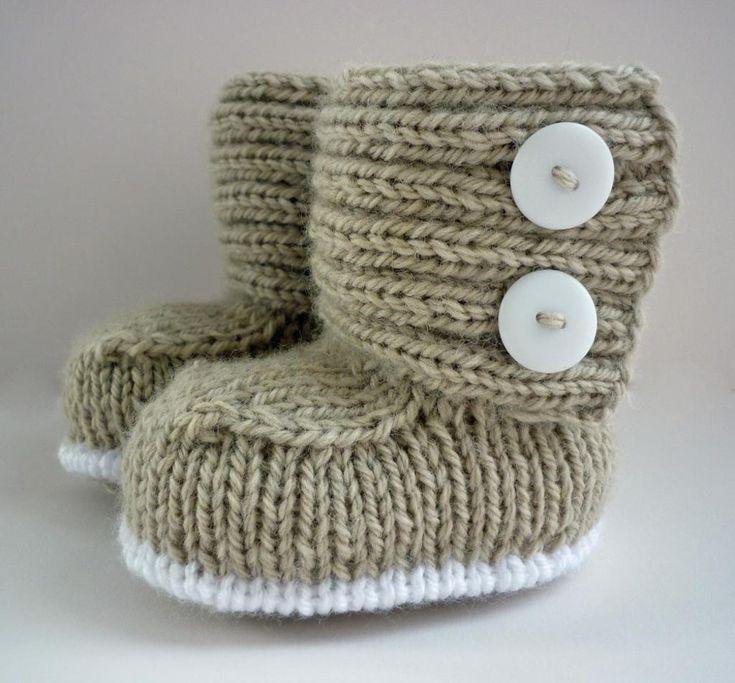 (6) Naam: 'Breien: Jaden gebreide Baby Boots