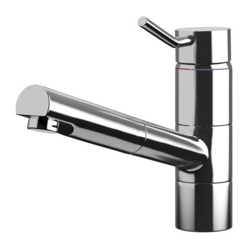 TÄRNAN Single lever kitchen faucet, chrome plated, pull-out chrome plated/pull-out. $79.99.