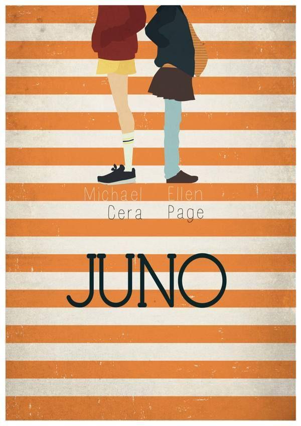 Cool Movie posters: Juno (2007) ~ Minimal Movie Poster by Maria Suarez Inclan #amusementphile... Cartazes Check more at http://kinoman.top/pin/10380/