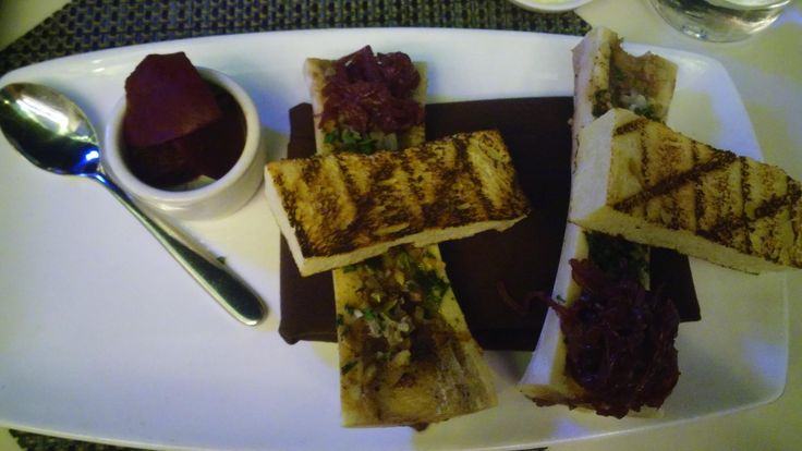 [I ate] bone marrow?! I had no idea this was a thing but so glad I tried it! The waiter even told me how to clean my bones with bourbon.. Cant wait to try next time!