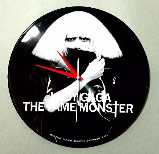 Lady Gaga The Fame Monster Picture Disc Wall Clock