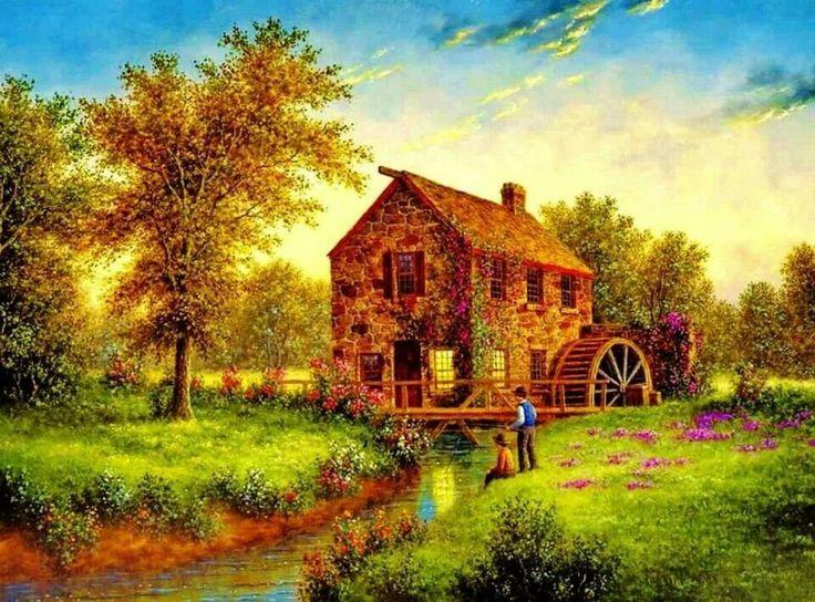 44 best dennis lewan images on pinterest artists cabins for Dennis mill cabin
