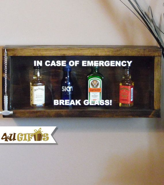 En caso de emergencia romper vidrio Mini Bar por 4UGIFTSONLINE
