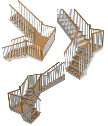 how to create staircases connected by landings chief architect rh pinterest com