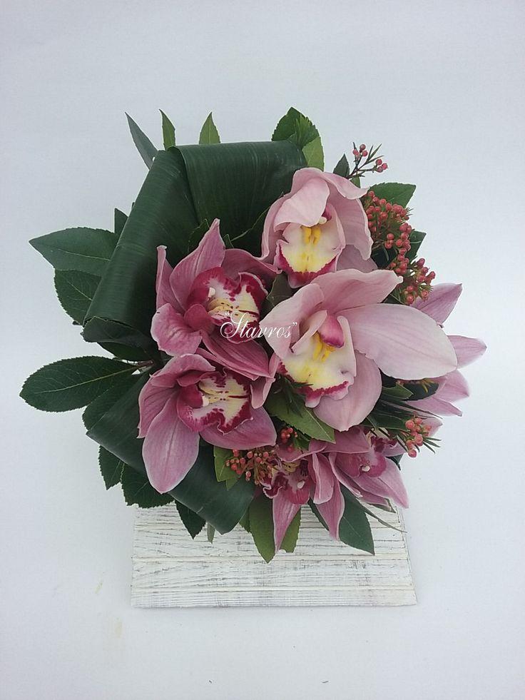 #pink#cymbidium#bouquet