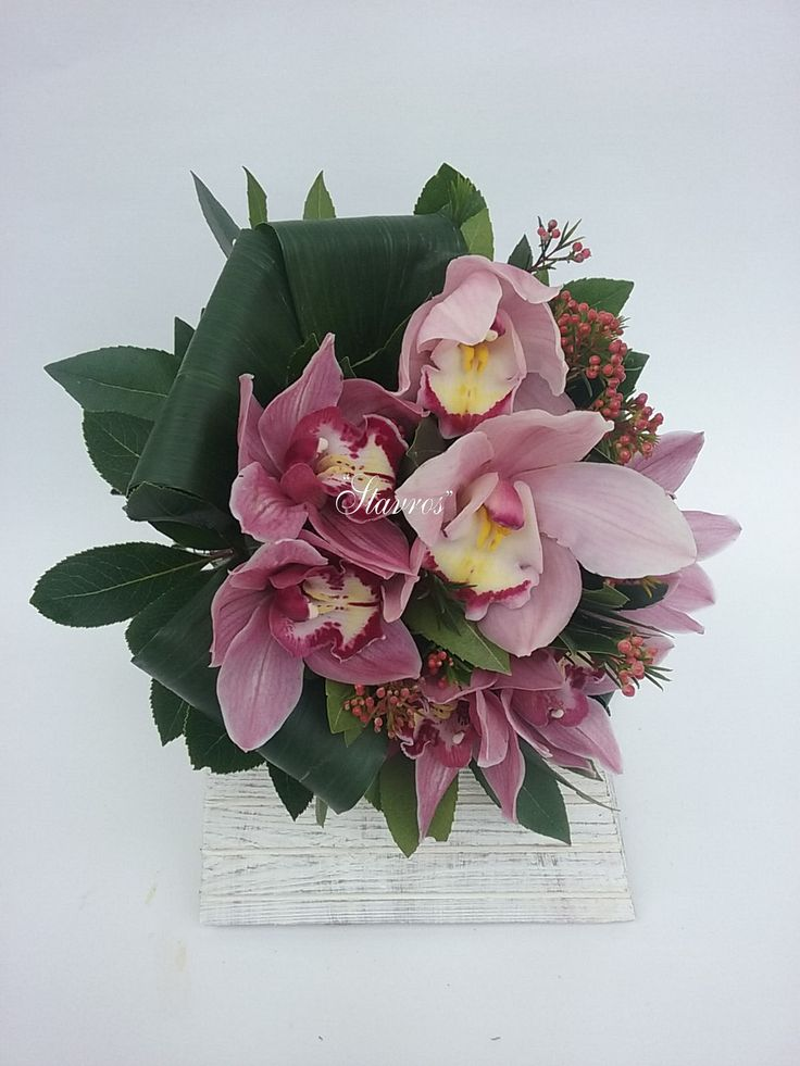 #pink#cymbidium#bouquet