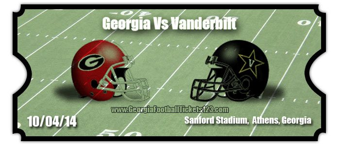 georgia bulldogs vs vanderbilt | Georgia Bulldogs Football Schedule 2014