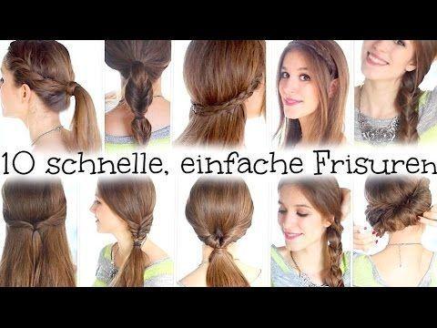 Styles de coiffure pour les écoles ▶ 10 coiffures faciles et rapides - pour l'école, le collège, le travail - YouTube