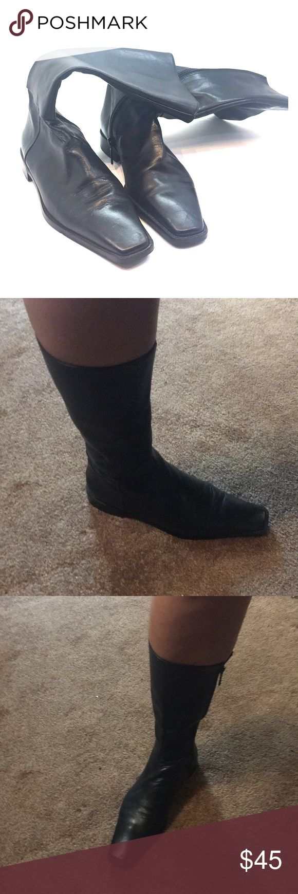Sexy black boots! Sexy black boots, barely worn! Zara Shoes Combat & Moto Boots