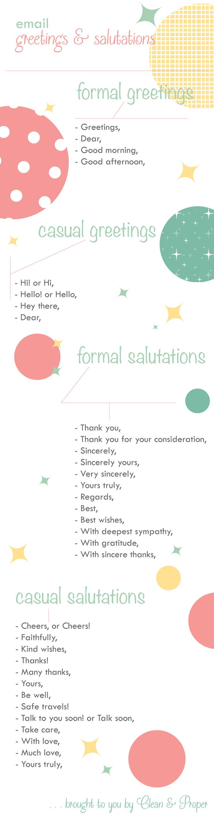 Email Greetings and Salutations! #etiquette #manners #correspondence
