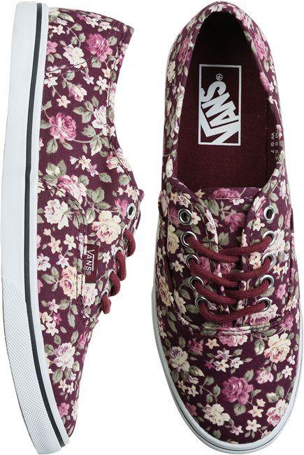 Vans floral authentic lo pro shoe http://www.swell.com/Womens-View-All-Footwear/VANS-AUTHENTIC-LO-PRO-SHOE-20?cs=YP