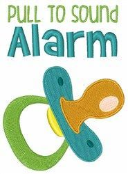 """Pull For Alarm"" baby embroidery design by Hopscotch - a top seller!"
