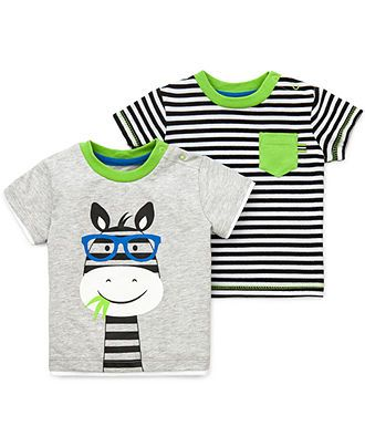 Little Me Baby Boys' 2-Pack Zebra Striped Tees - Kids - Macy's