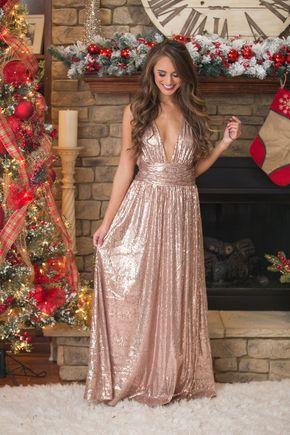Set A Shining Example Sequin Maxi Dress