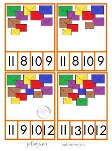 Knijpkaarten tellen/ herkennen van cijfersymbool