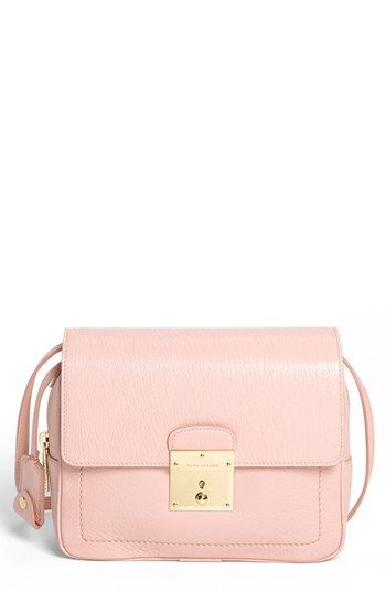 MARC JACOBS '1984' Leather Camera Bag Cherry Blossom/ Pale Gold