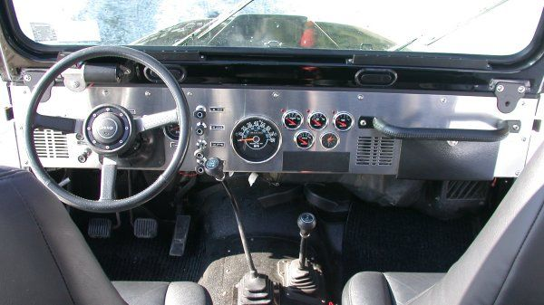 Jeep Yj Dash Conversion My Yj Cj Dash Build Jeep