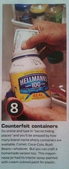Counterfeit containers via handyman magazine