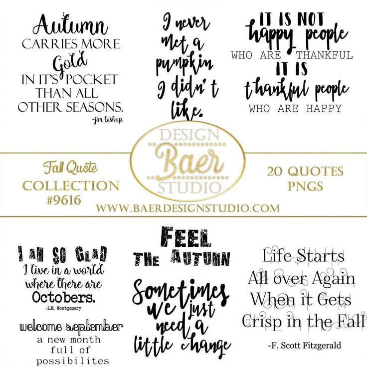 Inspirational Quotes, Fall Quotes, Autumn Quotes, September Quotes, October  Quotes, Png