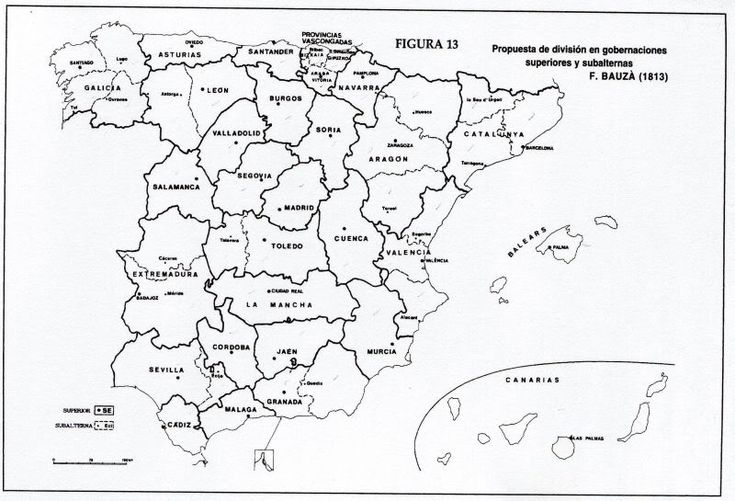 La organización territorial en la España del XIX: las Cortes de Cádiz   Geografía Infinita