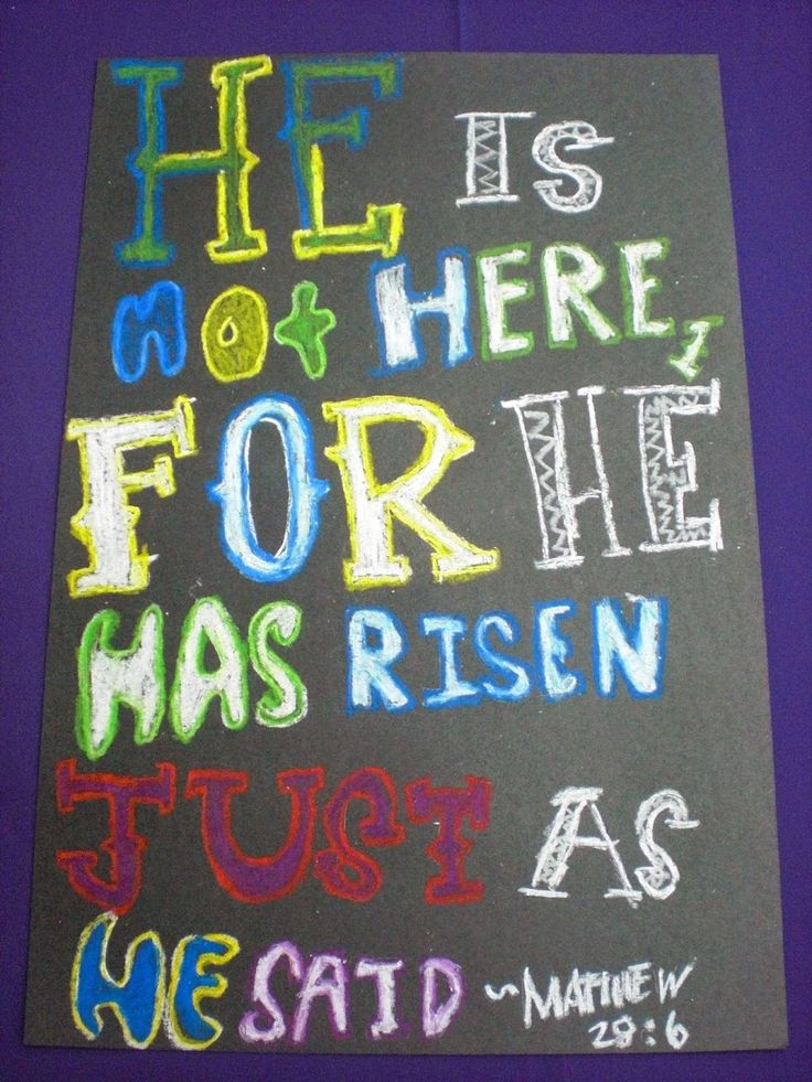 Easter Typography Posters Student