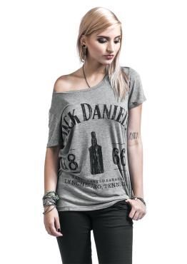 Jack Daniel's - 1866 - front print - boat neck - casual fit No Jack - no me! In case there's fine whiskey instead of blood running through your veins, youll like this 1866 t-shirt by Jack Daniel's. The casual t-shirt features a huge front print and is sexy and comfy due to the boat neck. Cheers!
