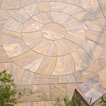 Elegance 13.05m² Patio, Circle & Squaring-Off Kit - Rufina