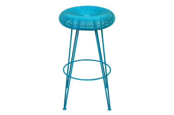 Tripod barstool aqua!  Part of the Mr Jim collection from JIMMY POSSUM.
