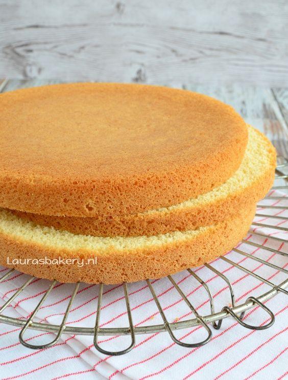 Biscuit recept - Laura's Bakery (incl. tabel met ingredienten voor alle mogelijke maten springvorm!)