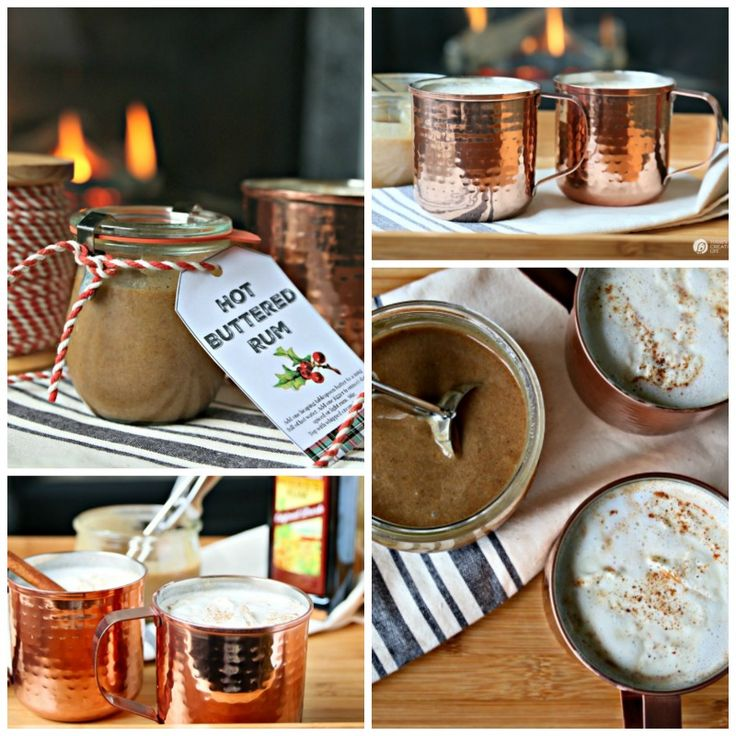 This creamy homemade Hot Buttered Rum recipe has the secret ingredient of Vanilla Ice Cream that puts all the others to shame! Free printable tags if you want to make it a gift!