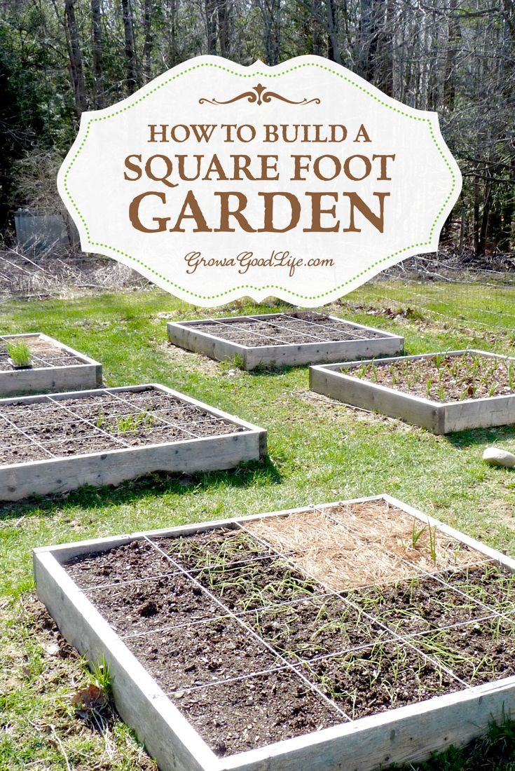 how to build a square foot garden id233er