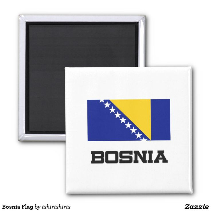Bosnia Flag 2 Inch Square Magnet