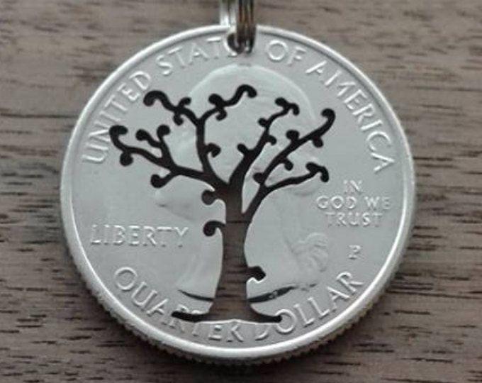 Münzen Schmuck Quarter Dollar Usa Bäumchen Muenzsaegerei
