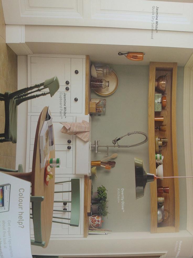 Overtly olive dulux paint dulux pinterest paint for Dulux paint kitchen ideas
