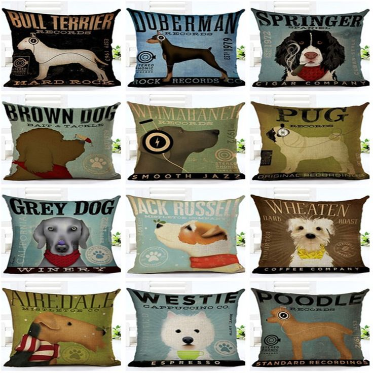 Springer Doberman Wheaten Airedale Beagle Throw Cushion Covers  Price: 9.99 & FREE Shipping  #doglover #lovepets #petowners #catlovers