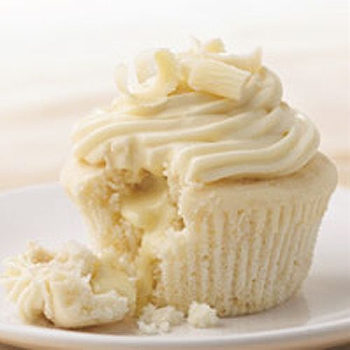 White Chocolate Cupcakes with Lindor Truffle Chocolate