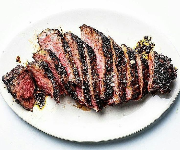 Smoked over hard and fruitwoods then reverse-seared and encrusted upon white-hot charcoal to tender mouthwatering medium-rare perfection and finished with a gorgeous porcini mushroom-herb butter. Prime-grade. Double-thick. Strip Steaks. Like a boss! #myfoodeatsyourfood  . Courtesy: Food and Wine | @foodandwine . . . . . Blog: http://ift.tt/1vCV6pv  #chef #grill #grilling #bbq #barbecue #parrilla #asado #carne #churrasco #beef #beer #cerveza #prime #meat #meatlover #carnivore #paleo…