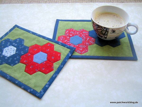 Idea for a mug rug - no pattern (german lang.)