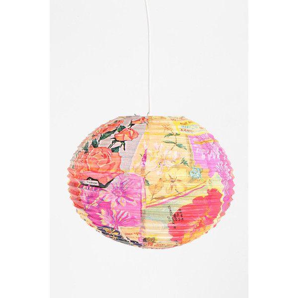 Handmade Paper Lantern ($7.99) found on Polyvore