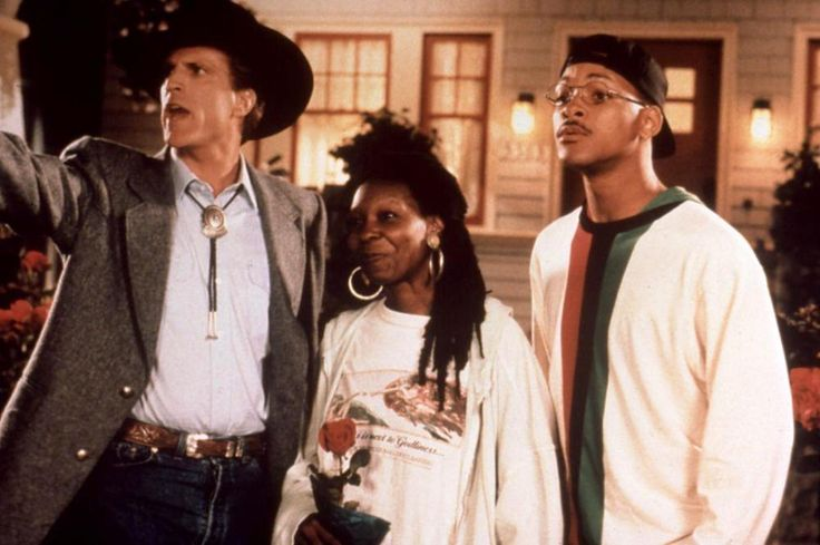 """Made In America"" movie still, 1993.  L to R: Ted Danson, Whoopi Goldberg, Will Smith."
