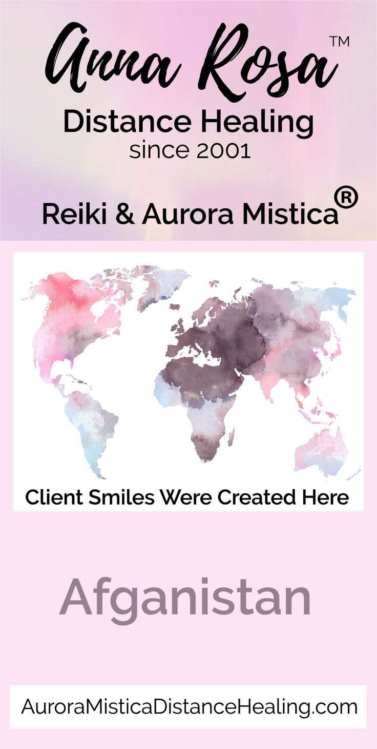 "I have been providing distance healing services online since 2001. I am a Usui, Karuna (r), Shamballa & Kundalini Reiki Master. I also have my own registered modality called Aurora Mistica (R). I truly enjoy helping put ""Smiles Around the World"" :) #annarosa #smilesaroundtheword #reiki #distancehealing #remotedistancehealing #remotehealing #distanthealing #longdistancehealing #spiritualhealing #reikihealing #reikinearme #afganistan"