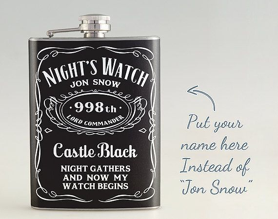 Customized Game of Thrones Flask | 27 Perfect Personalized Gifts Everyone Will Love