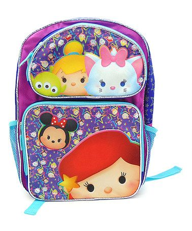Another great find on #zulily! Tsum Tsum 16'' Purple Backpack #zulilyfinds
