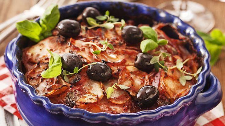 Fransk potatisgratäng med oliver