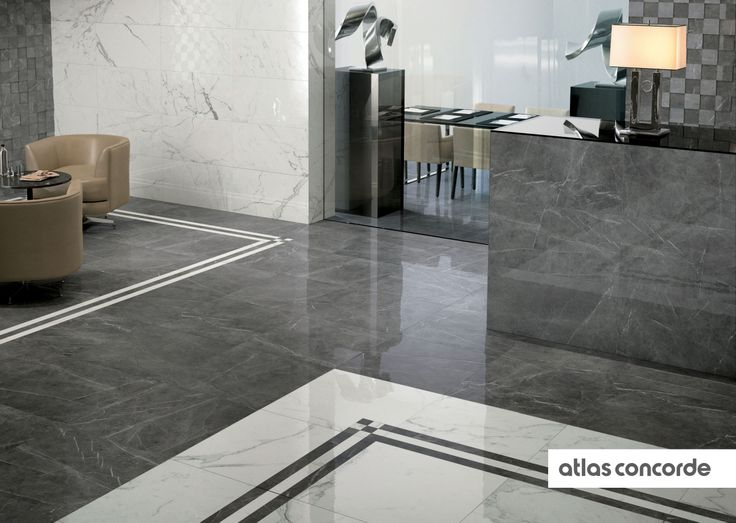 #MARVEL calacatta and grey | #AtlasConcorde | #Tiles | #Ceramic | #PorcelainTiles