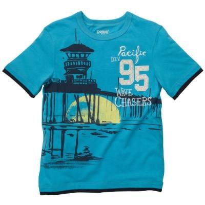 OshKosh B'Gosh Kid Boys Layered-Look Embellished Graphic Tee Shirt