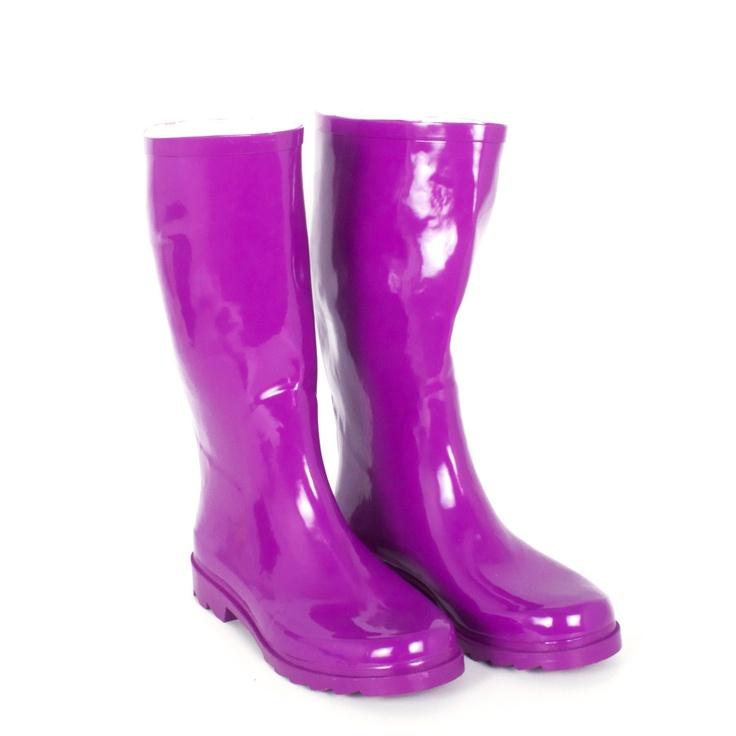 Fab.com | foldable Travel Rain Boots Purple