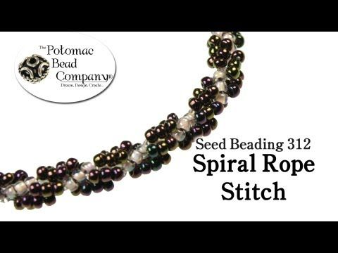 Free Spiral Rope Seed Bead Patterns - http://www.guidetobeadwork.com/wp/2013/01/free-spiral-rope-seed-bead-patterns-4/